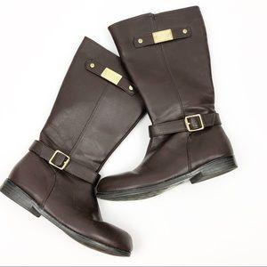Michael kors / brown riding boots / size 3 kids